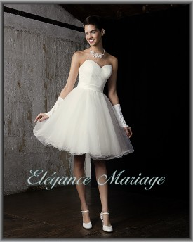 Robe blanche courte tulle